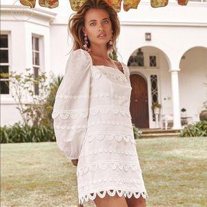 la maison talulah white mini dress, small NWT
